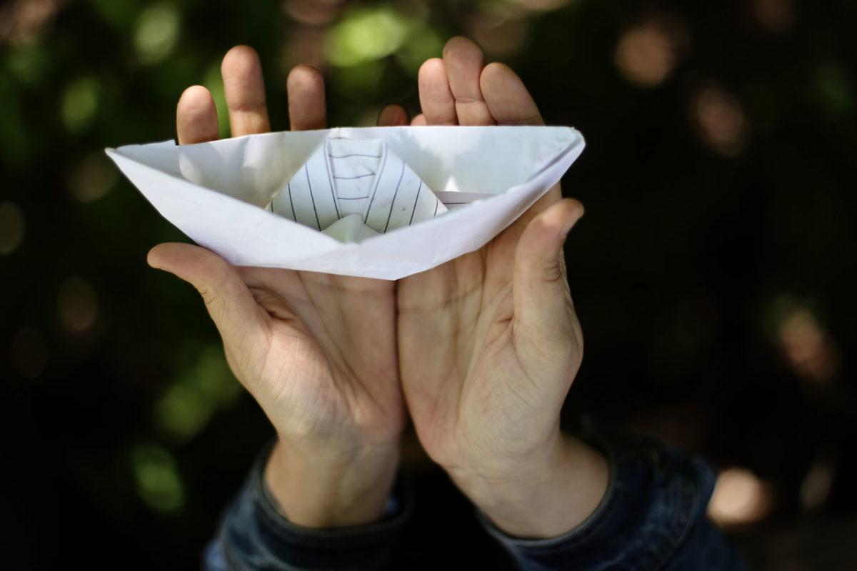 bateau en papier réussi