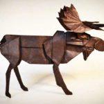caribou origami en papier de mûrier