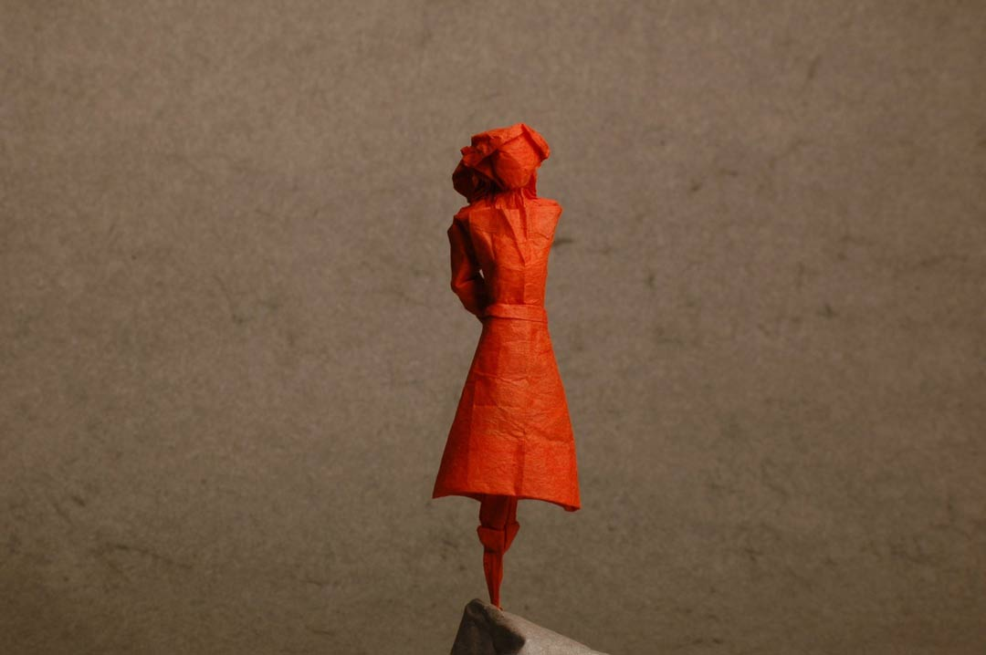 Origami silhouette bienvenue