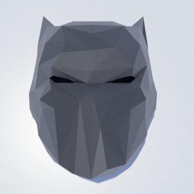 Modèle pepakura masque de panthère