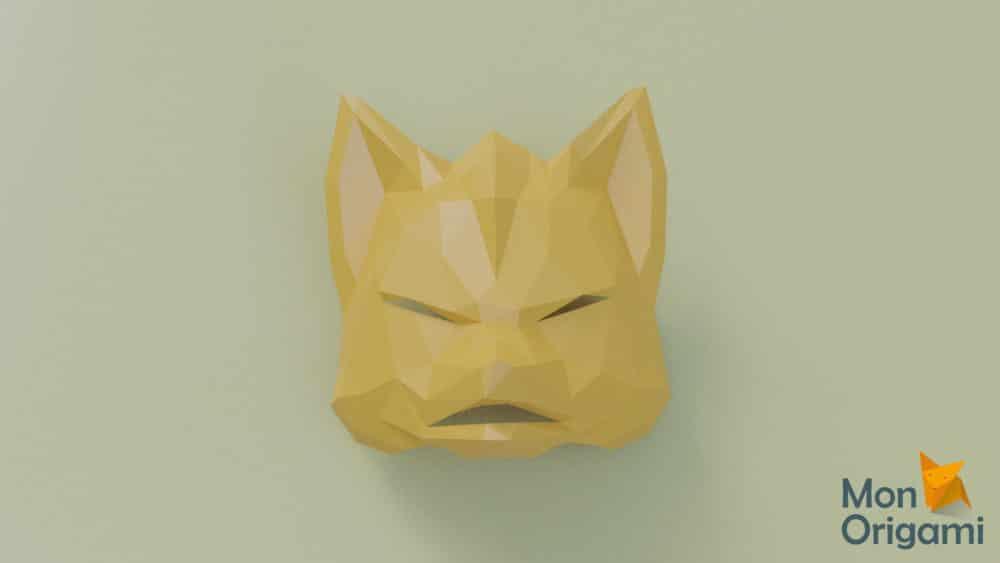 Modèle pepakura masque de renard
