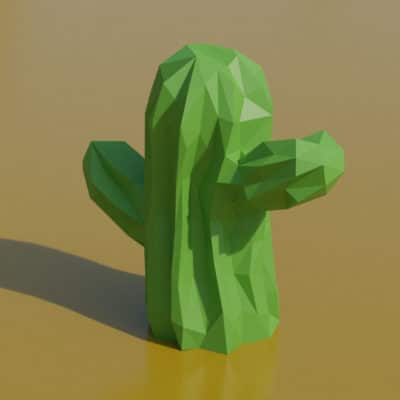 Modèle origami 3D cactus
