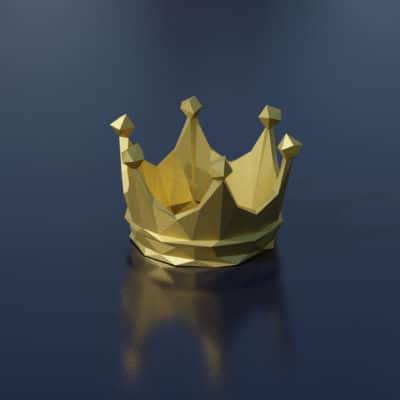 Modèle papercraft couronne