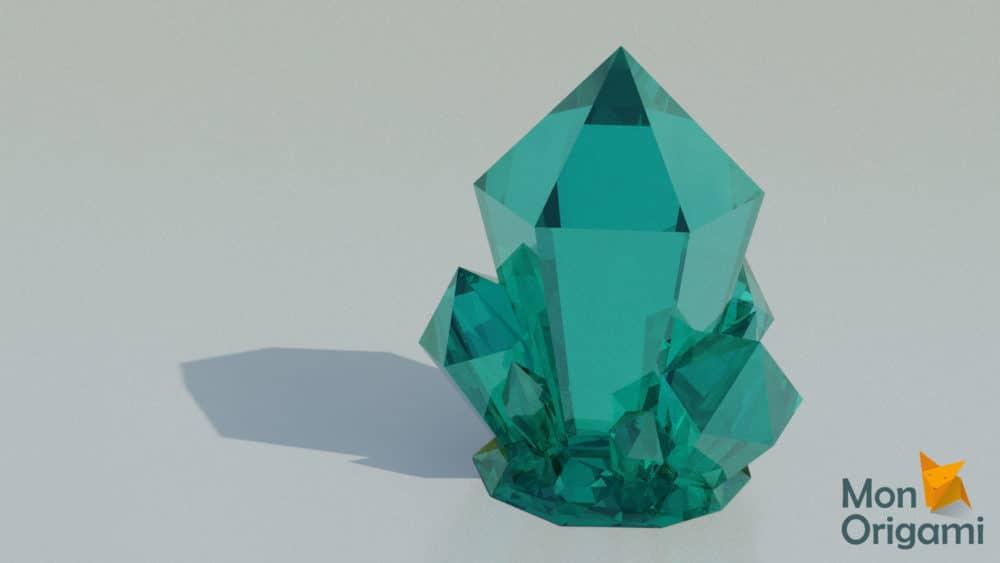Modèle papercraft cristal