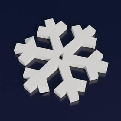 Modèle origami 3D flocon de neige