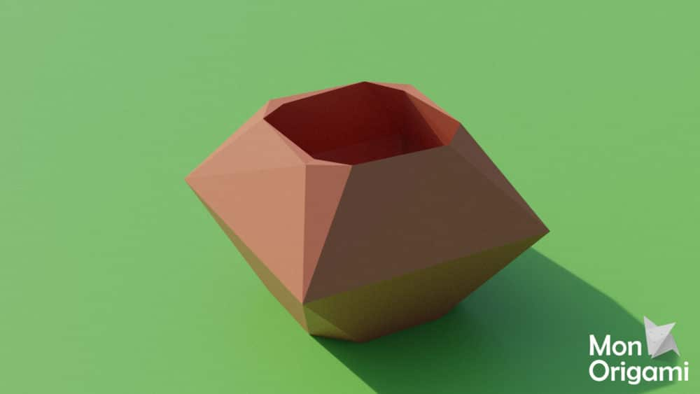 Modèle de papercraft cache-pot
