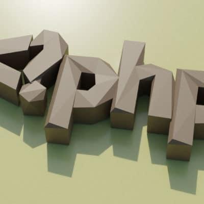 Modèle de papercraft symbole php