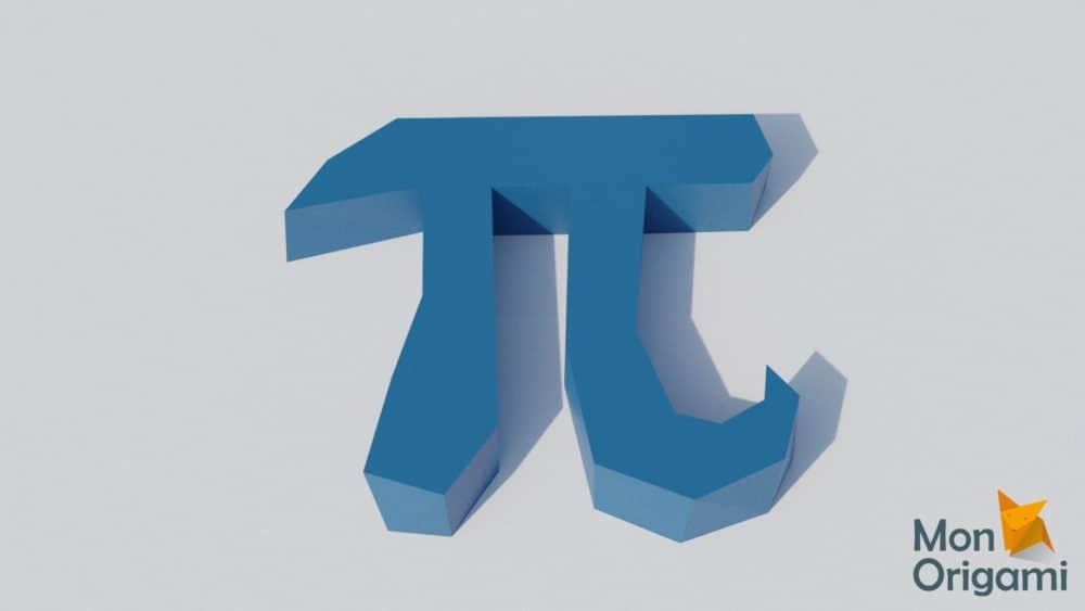 Symbole PI 3D en papercraft
