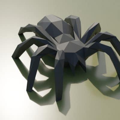 origami 3D sculpture araignée