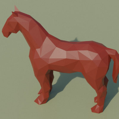 Sculpture origami 3D cheval