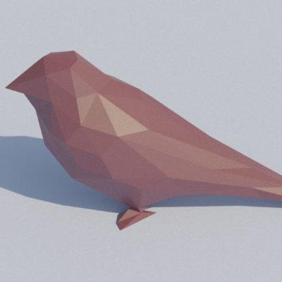 Sculpture oiseau origami 3D