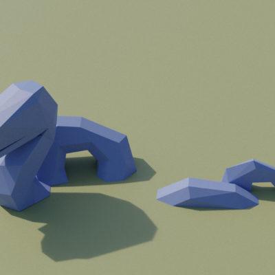 Sculpture serpent en origami 3D