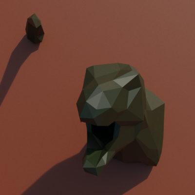 Trophée T. Rex en origami 3D