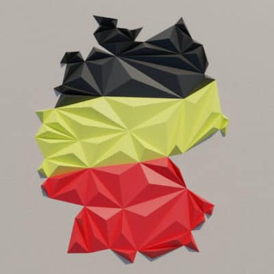 Modèle origami 3D carte de l'Allemagne