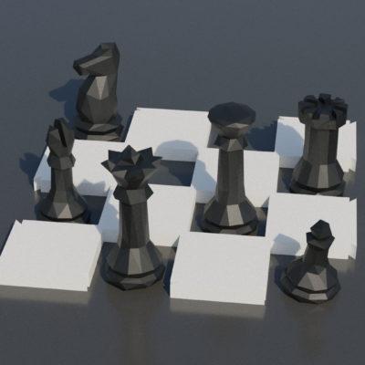 Modèle papercraft jeu échecs géant