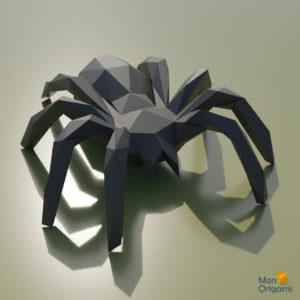 Modele papercraft araignee effrayante pour Halloween