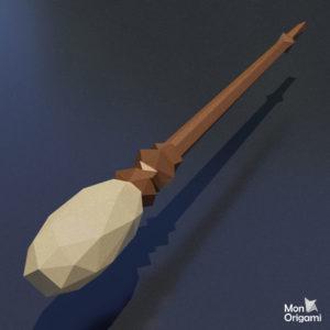 Modele papercraft de balai magique