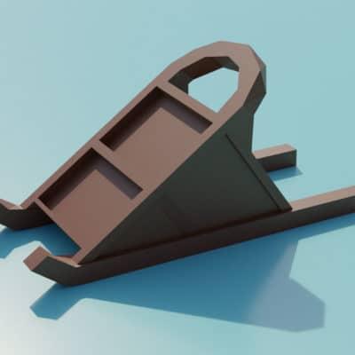 Modèle origami 3D luge