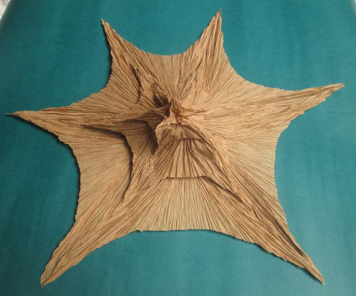 Origami froissage modèle artichaut de Vincent Floderer