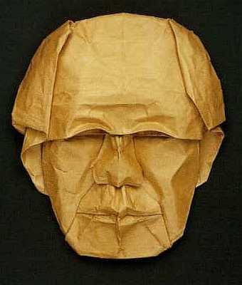 Origami modèle autoportrait akira yoshizawa