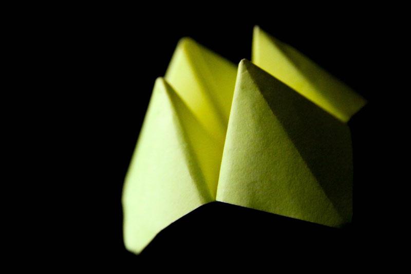Modèle origami cocotte en papier